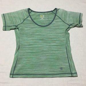 Mountain Hardwear Women's Green Stripes T Shirt